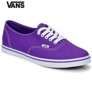 VANS Purple Lo Pro Low Sneakers Skate Shoes 7.5